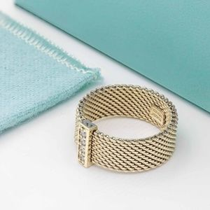 Tiffany & Co. Jewelry - Tiffany & Co Somerset Mesh Ring with Diamonds